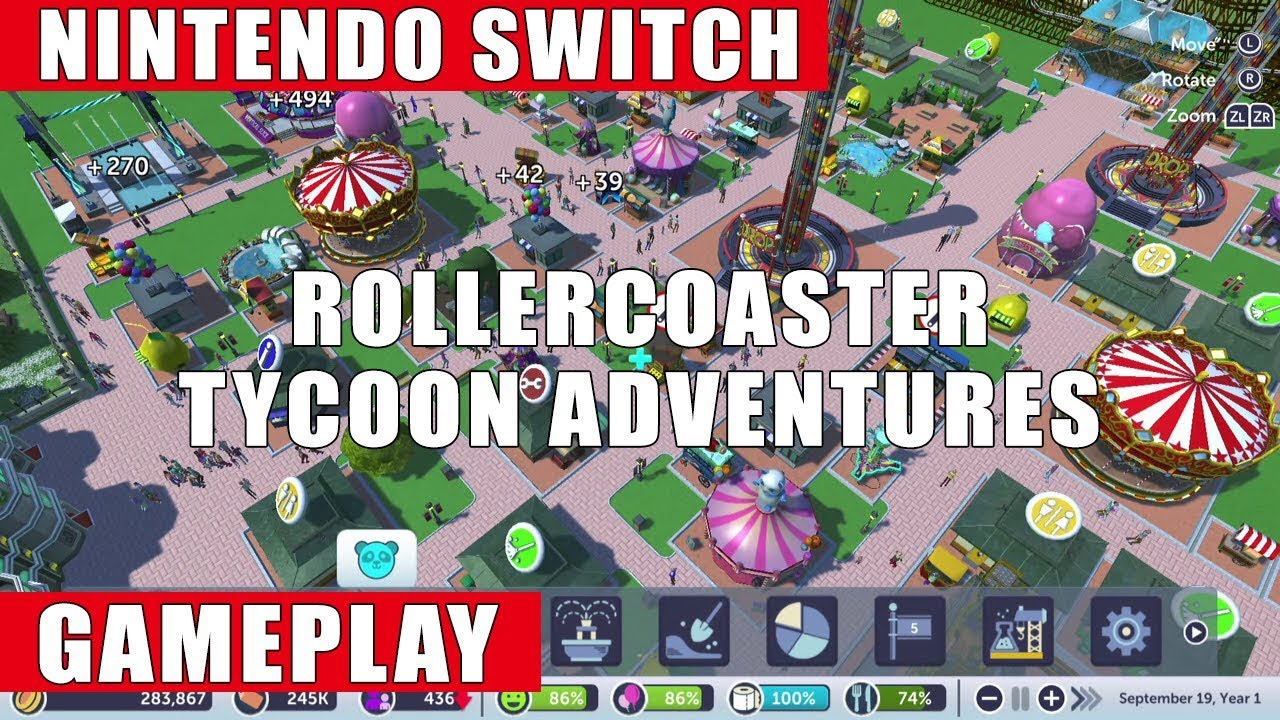 RollerCoaster Tycoon Adventures Nintendo Switch Gameplay