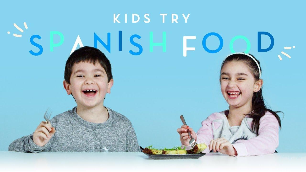 Kids Try Spanish Food Kids Try Hiho Kids Youtube