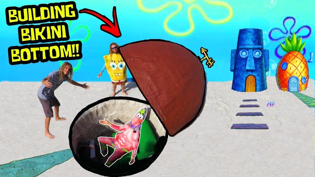 Ich baute Patrick Stars House von Spongebob (in Real Life) + video