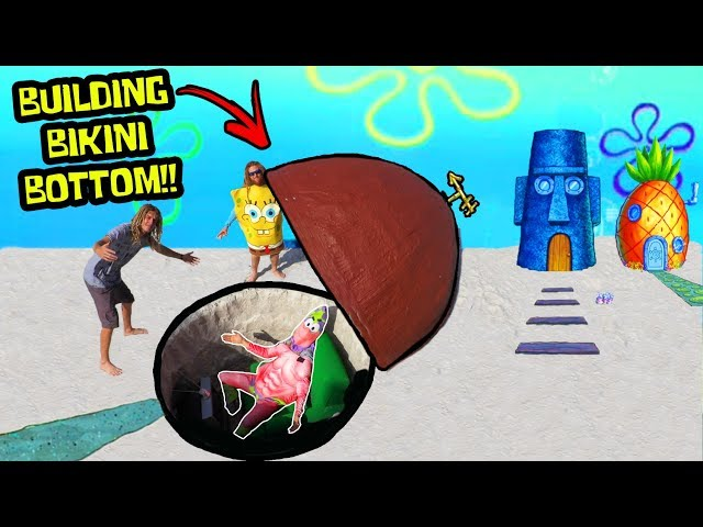 I Built Patrick Stars House From Spongebob (IN REAL LIFE)