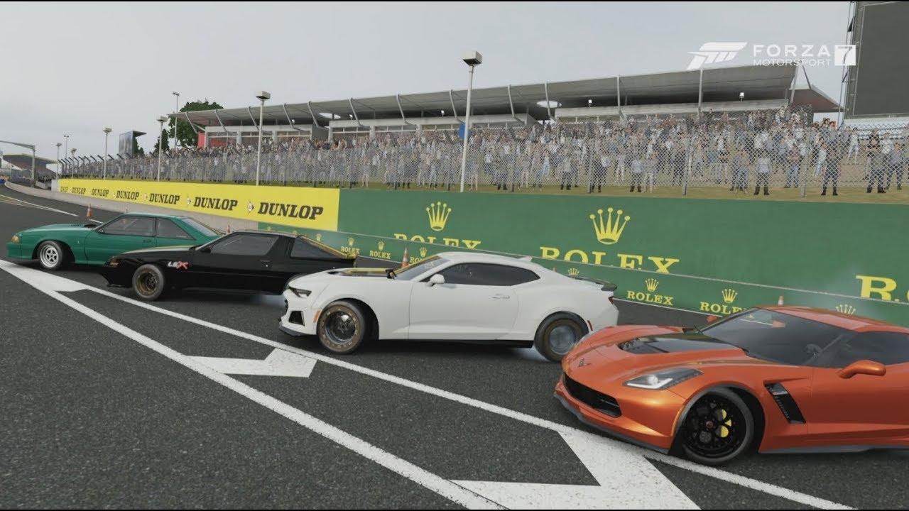 Forza 7 1000 Hp Rwd Street Cars Turbo Ls3 Foxbody Build Racing W C7 Starion Camaro
