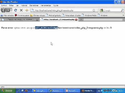VideoTutorial 2 del Curso de PHP y MySQL