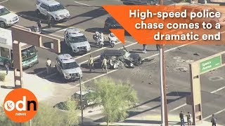 High-speed police chase comes to a dramatic end