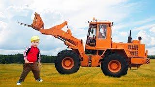 Download Трактор Погрузчик, Сломанный Трактор и Синий трактор с прицепом. Все серии подряд Mp3 and Videos