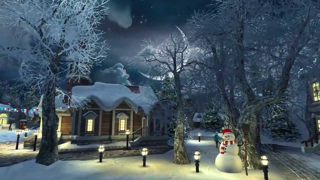 3d Candle Live Wallpaper Snow Village 3d Screensaver 20 12 2013 Youtube