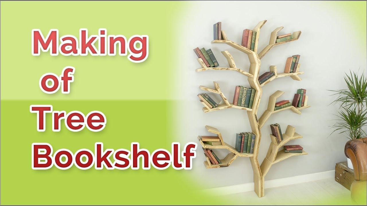 Building A Tree Bookshelf In Easy Way