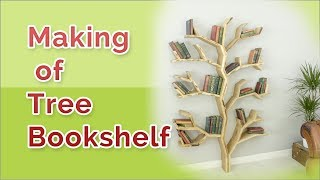 This is a Tree Bookshelf. We were inspired on internet one day and decided to make it for our association DIY: How To Make A Tree