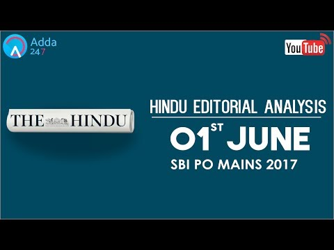 The Hindu Editorial Analysis - 1st June 2017 - SBI PO - Online Coaching for SBI, IBPS & Bank PO