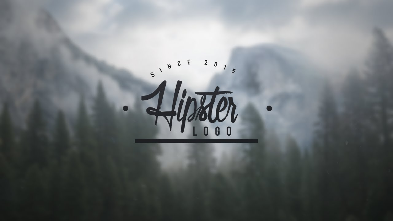old school hipster logo template for photoshop youtube