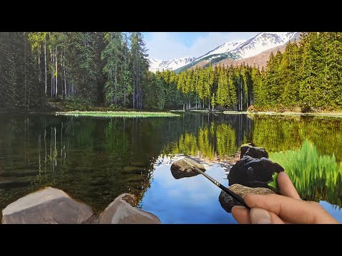 Lake Reflections Oil Painting | Time Lapse | Episode 175