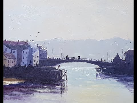 "Learn To Paint TV E23 ""Whitby Harbour Early Morning"" Acrylic Painting Beginners Tutorial"