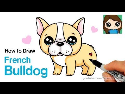 How To Draw A French Bulldog Easy | Cartoon Puppy