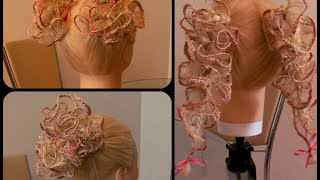 Плетение Скат тройной. Хвосты, Цветы. Видео-урок.Детские причёски
