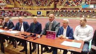 Глава кабинета министров Артем Здунов и Депутат госдумы Александр Карелин посетили дворец спорта и м