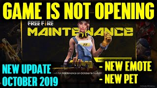 Free Fire New Update Game is Not Opening October 2019 - Garena Free Fire- Total Gaming Live