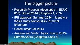 The Bigger Picture of Research Proposal