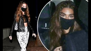 Chantel Jeffries flashes her toned abs as she heads home after a night out in West Hollywood