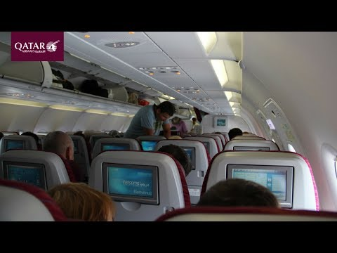 Qatar Airways 1009 Dubai to Doha A320 Economy Class Review