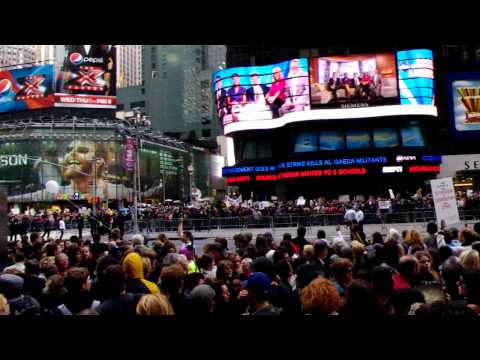 Occupy Wall Street March Into Times Square.AVI