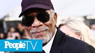 Morgan Freeman Brings Entire Family To Celebrate His SAG Awards Honor: 'This Is My Brood' | PeopleTV