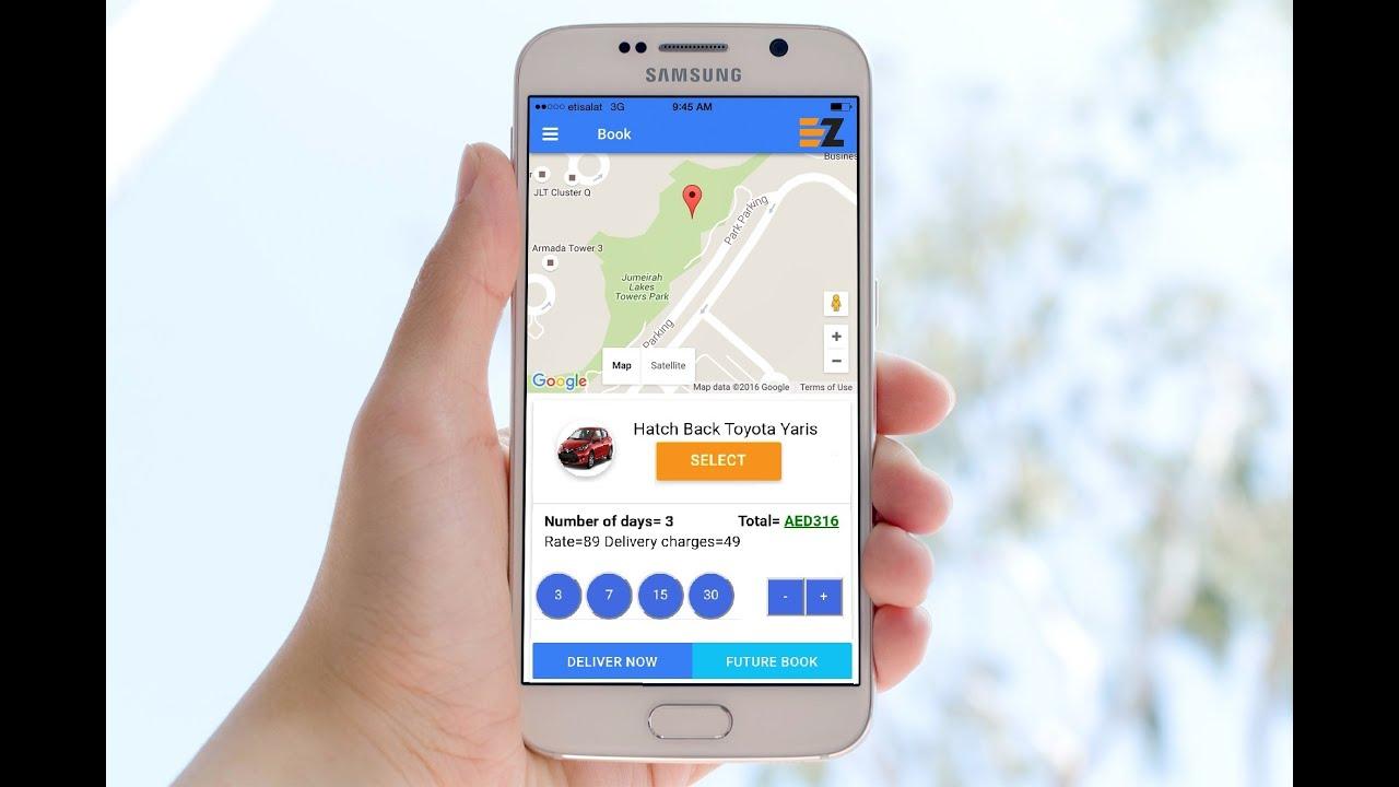 Ezhire Car Rental Mobile App Youtube