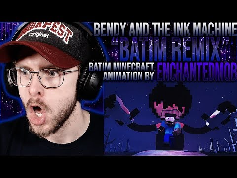 "Vapor Reacts #1049 | BENDY MINECRAFT ANIMATION ""BATIM Remix"" By EnchantedMob REACTION!!"