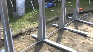 Wilbar Oval Above Ground Pool Installation Part 1 of 2 by Blue Wave Products