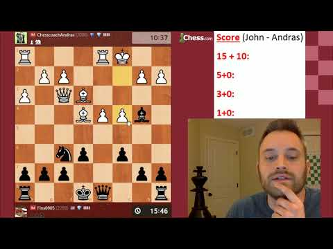 Rapid/Blitz/Bullet Match vs. IM Andras Toth [Dual Commentary]