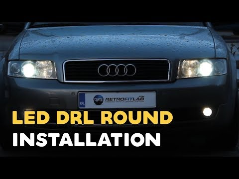 led drl round installation video daytime running light. Black Bedroom Furniture Sets. Home Design Ideas