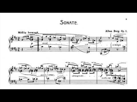 Berg: Piano Sonata, Op.1 (Peter Donohoe) (Audio + Sheet Music)