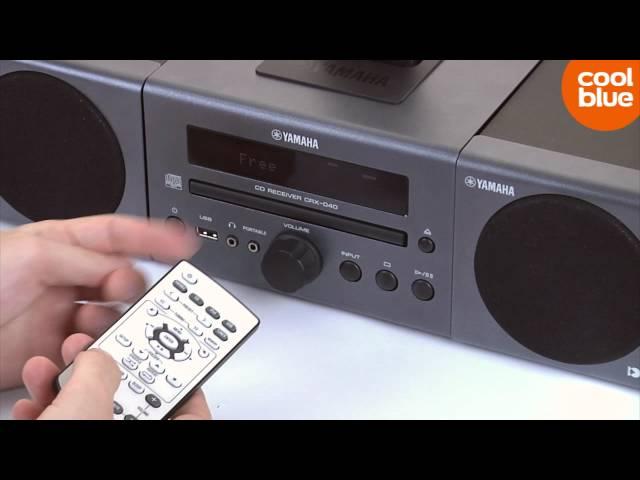 Yamaha MCR-040 review en unboxing (NL/BE)