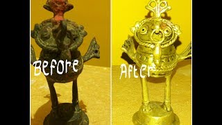 How To Clean Brass || At Home Easy Way|| Clean Brass with Household items