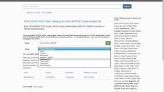 IDFC bank ifsc code