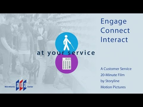 at your service film. Engaging customers with disabilities. Described