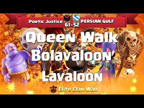 Poetic Justice vs PERSIAN GULF |Lavaloon + Ske, Bolaloon| 3 Stars War | TH11 | ClanVNN #187