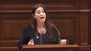 María del Río (Podemos) sobre prestación económica por nacimiento, adopción o acogimiento.