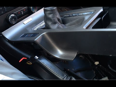 Mustang Center Console Removal For 2010 2014 Youtube