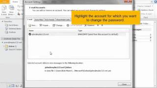 How to change your email password in Outlook 2010
