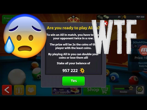 8 Ball Pool - LOST ALL MY COINS DUE TO A GLITCH! WTF MINICLIP!?
