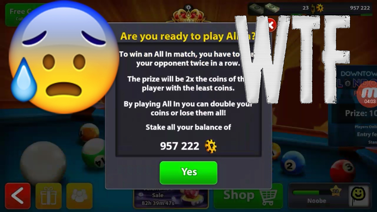 8 Ball Pool Lost All My Coins Due To A Glitch Wtf Miniclip Youtube