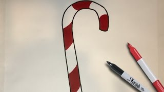 How to Draw a Candy Cane | Simple Drawing Tutuorial