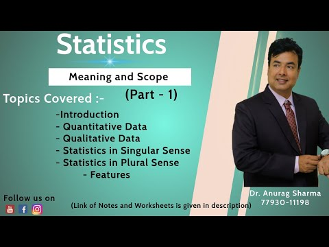 2.1 -Statistics - Meaning & Scope Part 1