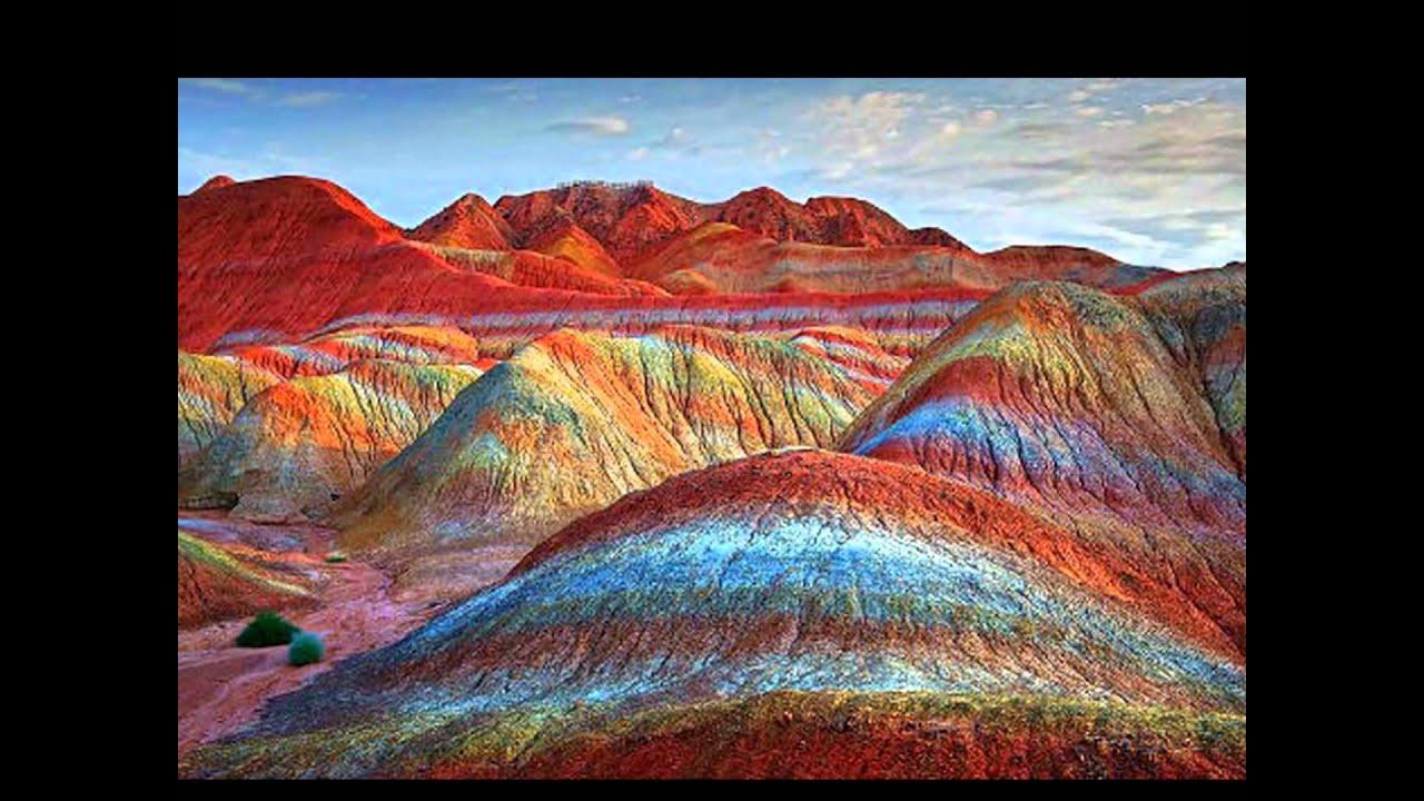 Cina,le montagne dell'arcobaleno - YouTube