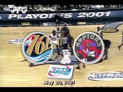 Philadelphia 76ers VS Toronto Raptors (Series tied 3-3)   2001 Playoffs   Game 7