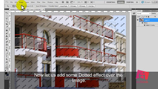 Tutorial to Create Pattern, Add Watermark to image and Give Dotted effect to Image in Photoshop