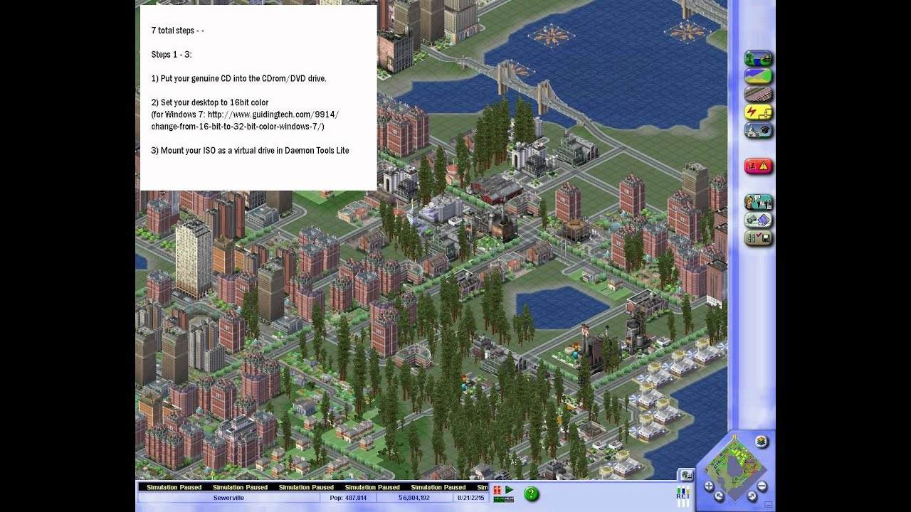 How to run Sim City 3000 in Windows 7 / Windows XP (without crashing during  loading cities)