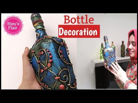 Bottle Decoration Ideas |Bottle craft |Bottle Transformation |Bottle art