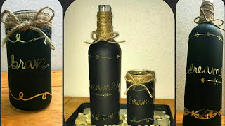 Wine bottle DIY. Easy Table Centrepiece. Home Decor.