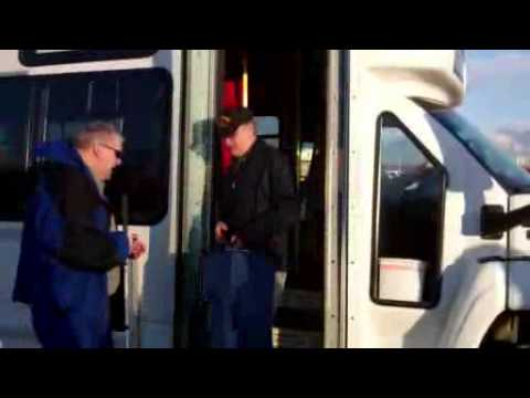 Sen. Murkowski Rides MASCOT, Valley Mover Buses from Wasilla to Anchorage, AK