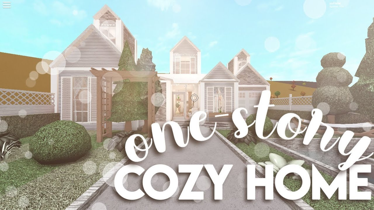 Roblox House Build 1 Story Roblox Bloxburg One Story Cozy Home House Build Youtube